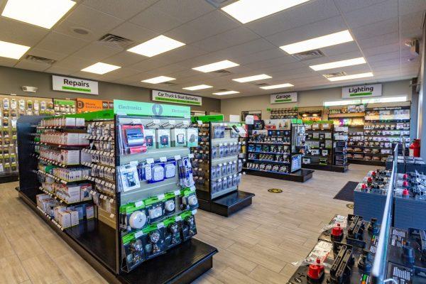 store aisles at Batteries Plus Bulbs Cherry Hill NJ