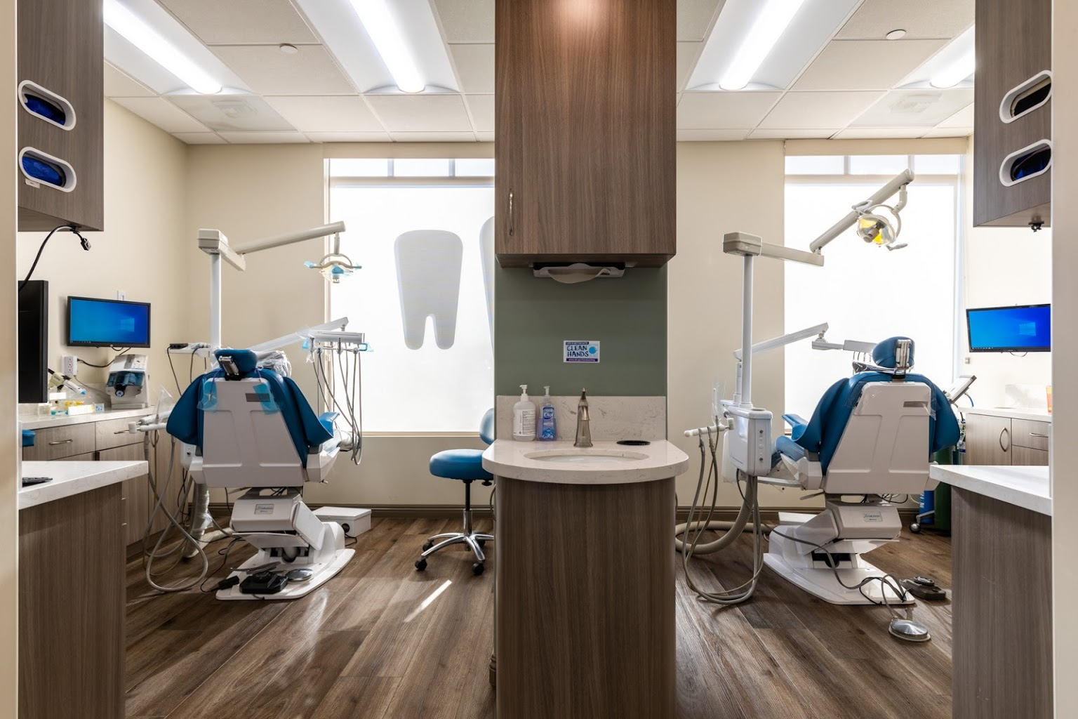 dentist chairs exam rooms at Doc Dental Smiles Dentistry in Menifee, CA