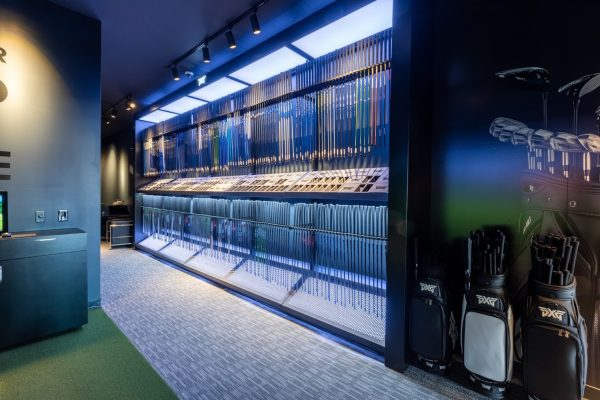 golf clubs rack Parsons Xtreme Golf store PXG Westgate in Edina, MN