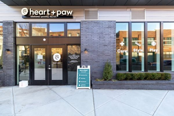 store front of Heart + Paw dog care and Veterinary on Germantown ave in Philadelphia, PA