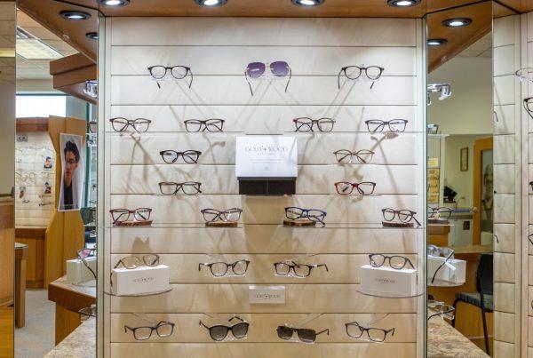glasses frames display The Eye Center At Jackson NJ