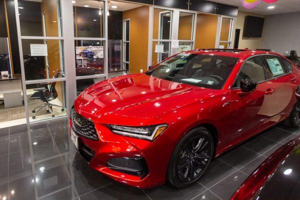 red car Acura of Brooklyn car dealer