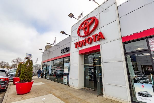 store front Plaza Toyota Car Dealership in Brooklyn, NY