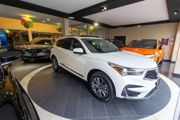 white suv Acura of Brooklyn car dealer