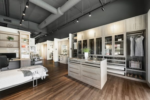 bed room closet organizer in California Closets 360 Tour of Interior Design in Palm Desert, CA